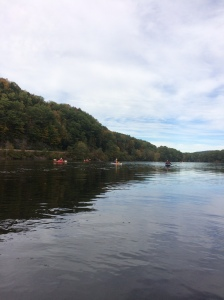 kayaks on CT River near Mink Brook